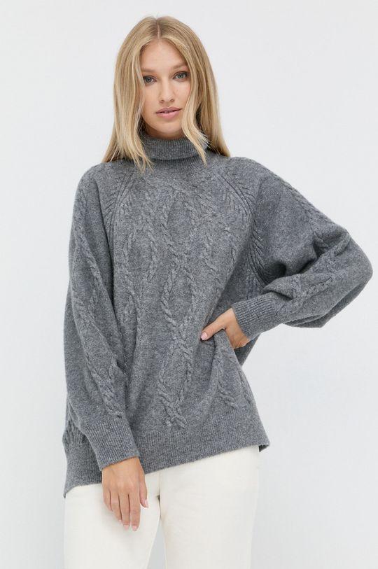 szary Marella - Sweter wełniany Damski