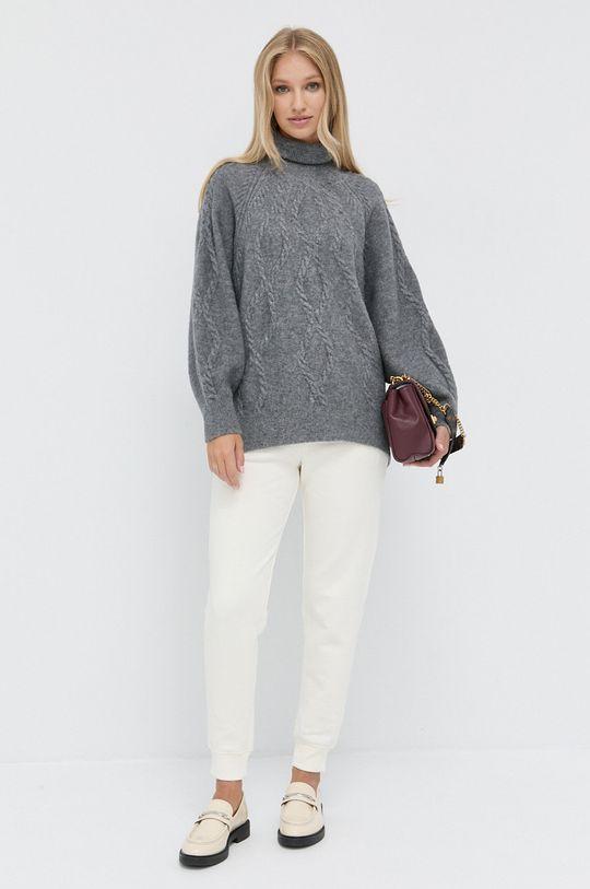 Marella - Sweter wełniany szary