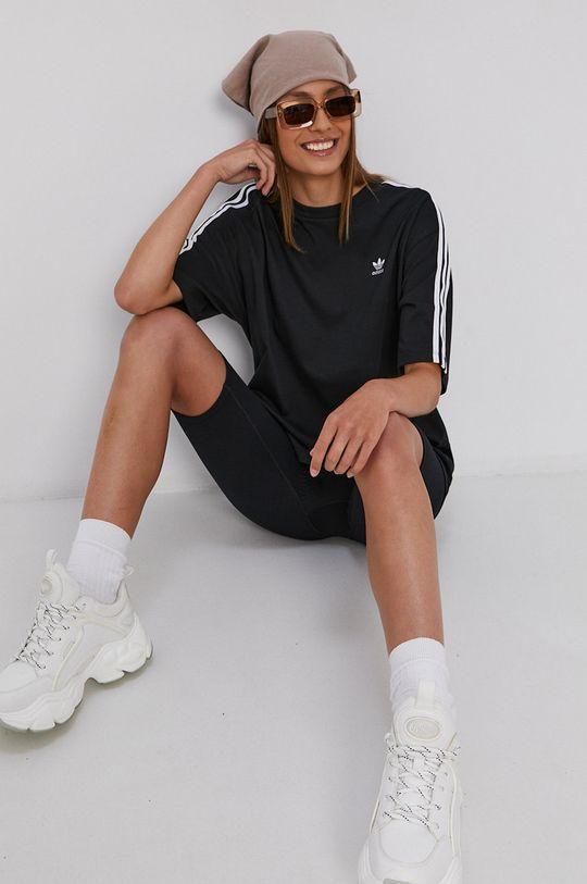 czarny adidas Originals - T-shirt bawełniany Damski