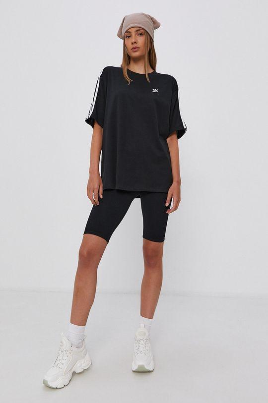 czarny adidas Originals - T-shirt bawełniany