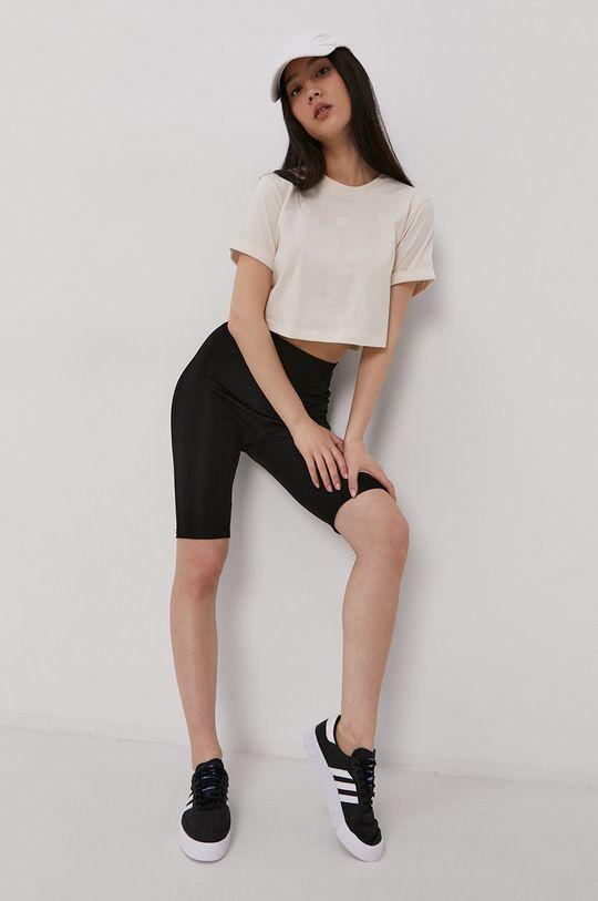 adidas Originals - T-shirt bawełniany kremowy