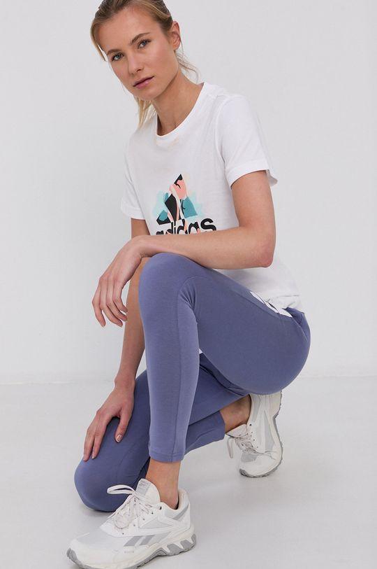 biały Adidas Performance - T-shirt bawełniany Damski