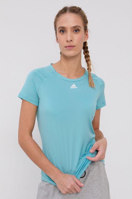 turkusowy adidas Performance - T-shirt Damski