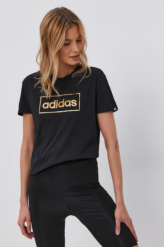 černá adidas - Bavlněné tričko Dámský