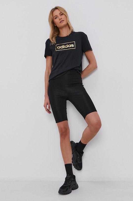 adidas - Bavlněné tričko černá