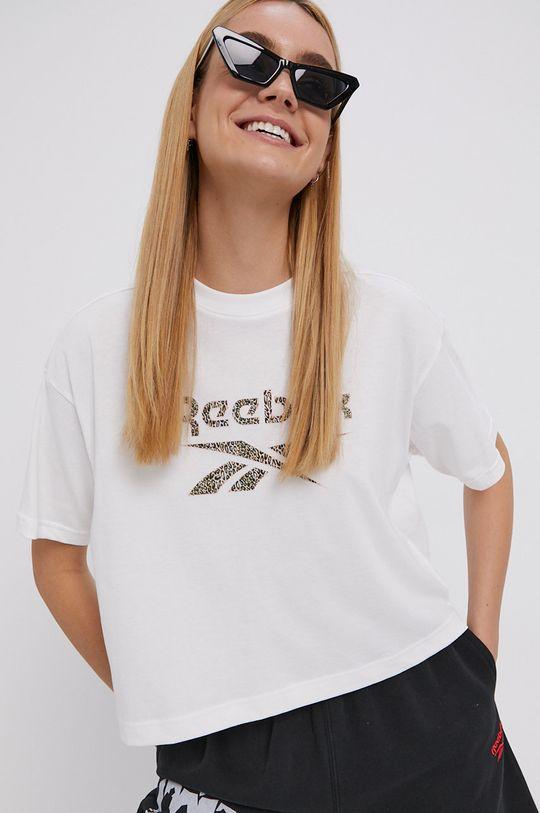 alb Reebok Classic - Tricou din bumbac De femei