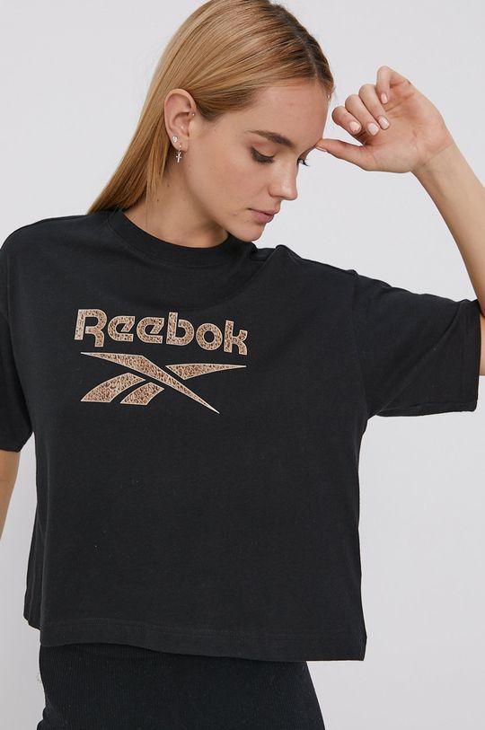 negru Reebok Classic - Tricou din bumbac
