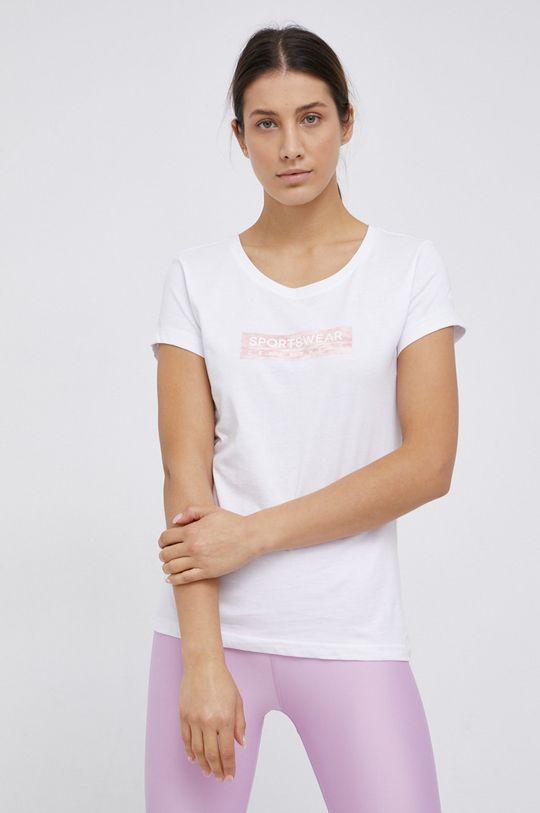 4F - T-shirt bawełniany biały