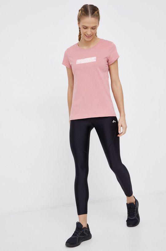 4F - T-shirt bawełniany różowy