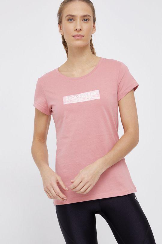 różowy 4F - T-shirt bawełniany