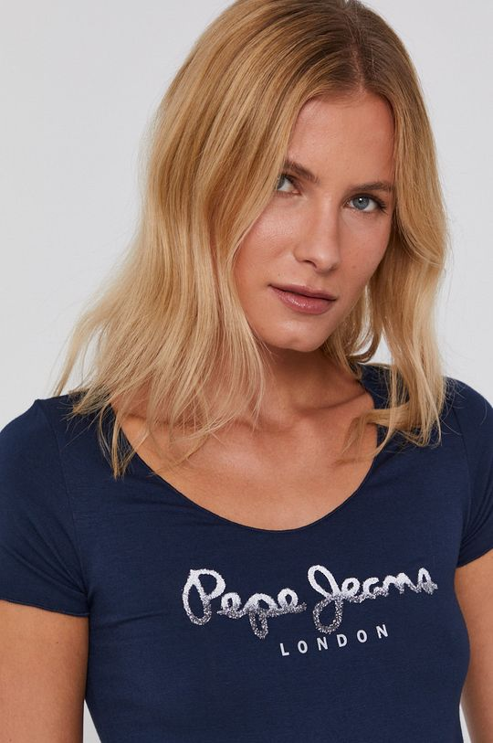 tmavomodrá Pepe Jeans - Tričko Belinda