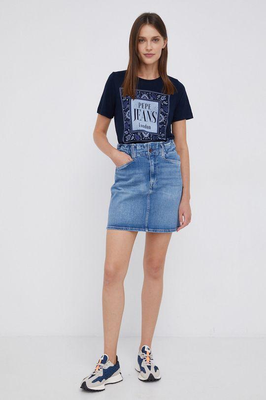 Pepe Jeans - T-shirt Mina granatowy