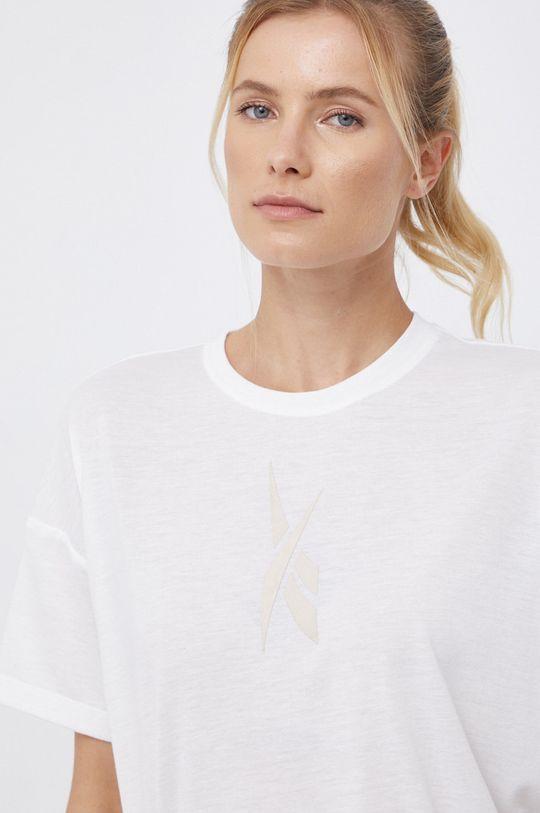 biały Reebok - T-shirt