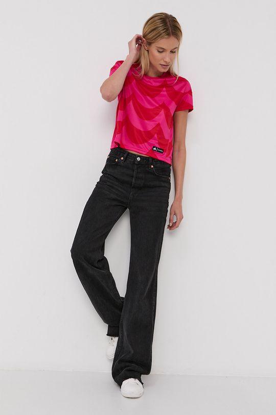 adidas Performance - T-shirt X Marimekko czerwony