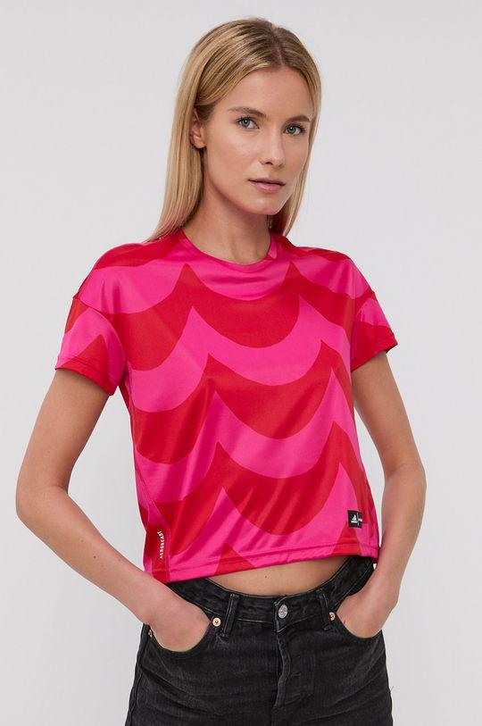 czerwony adidas Performance - T-shirt X Marimekko