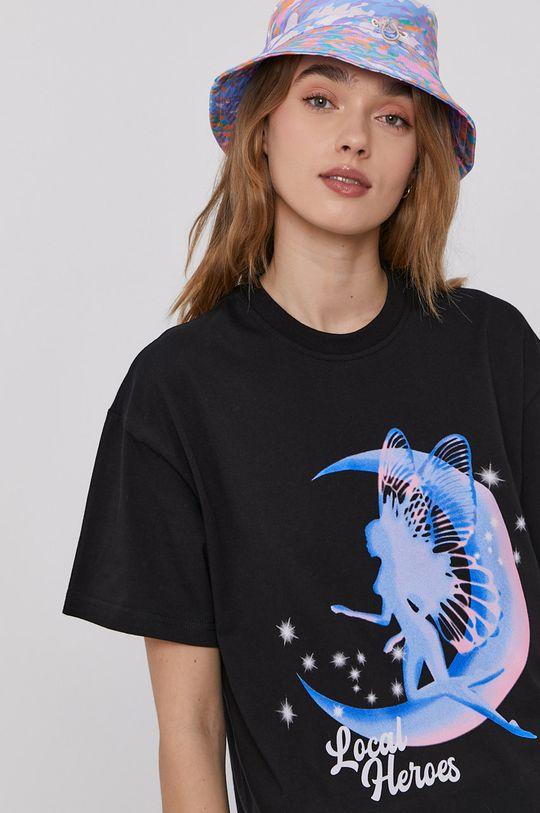 czarny Local Heroes - T-shirt Damski