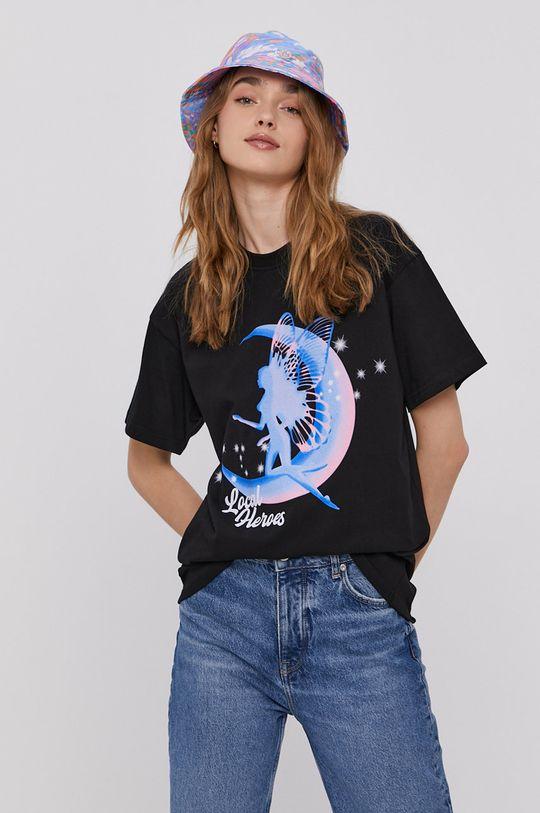 czarny Local Heroes - T-shirt