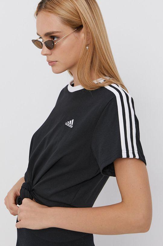 negru adidas - Tricou din bumbac De femei