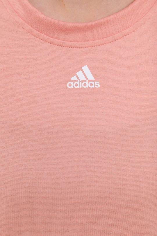adidas Performance - T-shirt brzoskwiniowy