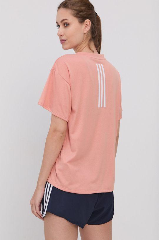 brzoskwiniowy adidas Performance - T-shirt