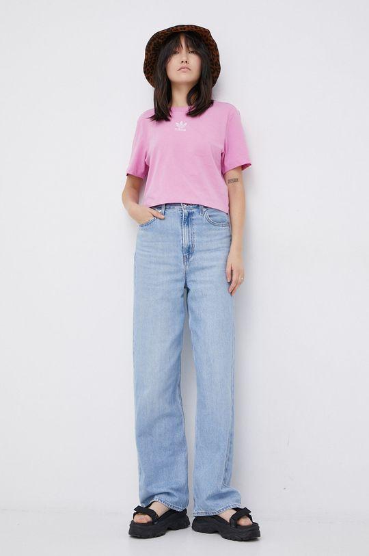 adidas Originals - T-shirt bawełniany różowy