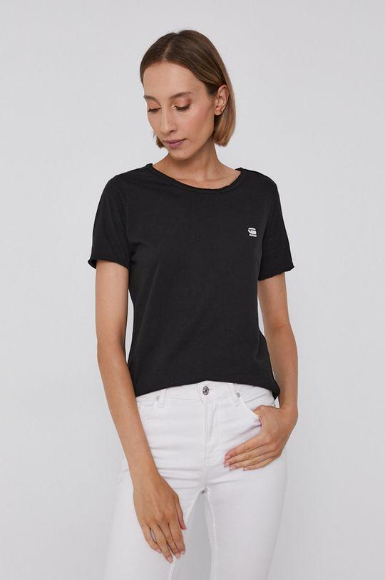 czarny G-Star Raw - T-shirt bawełniany Damski