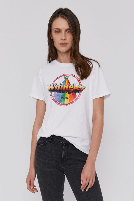 biały Wrangler - T-shirt bawełniany Damski