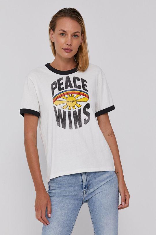 Wrangler - T-shirt bawełniany czarny