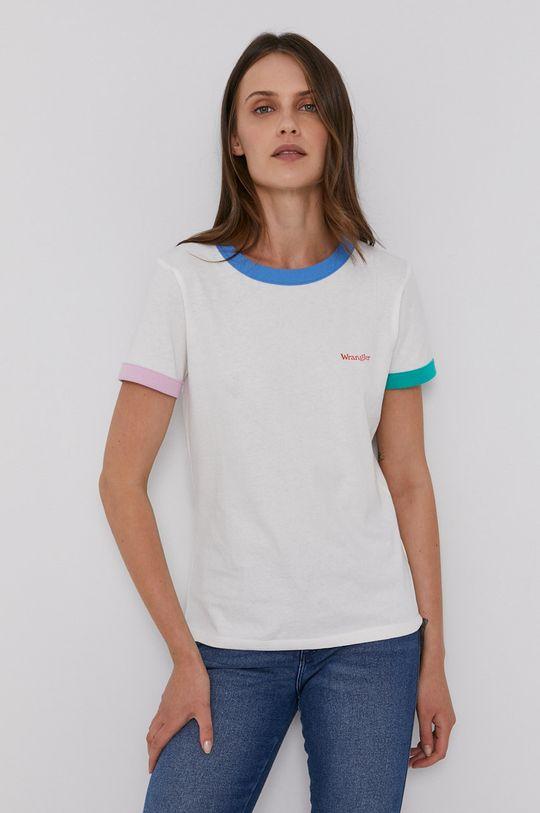 bílá Wrangler - Bavlněné tričko Dámský