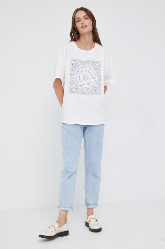 Wrangler - T-shirt bawełniany biały