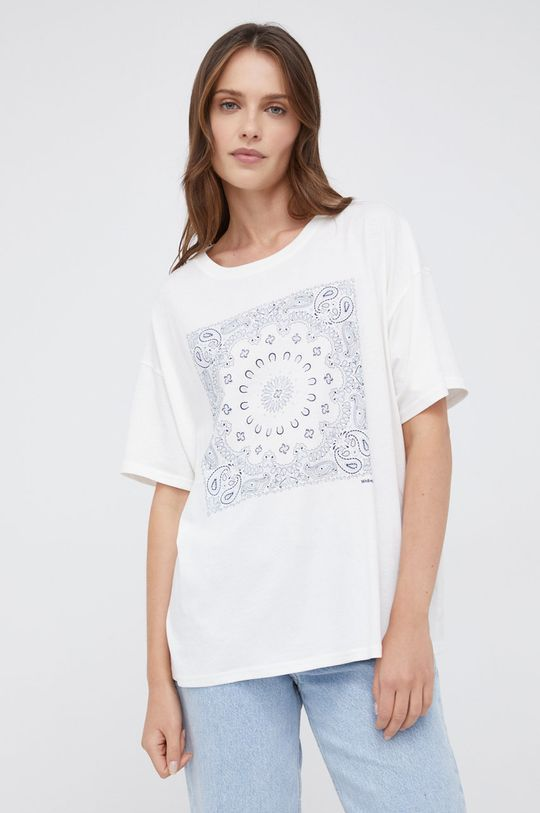 biały Wrangler - T-shirt bawełniany