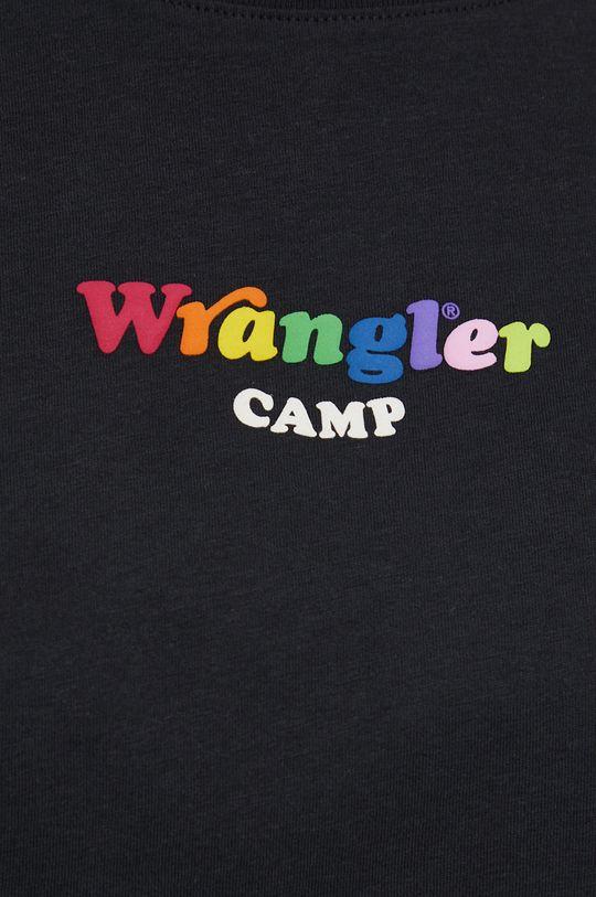 černá Wrangler - Bavlněné tričko