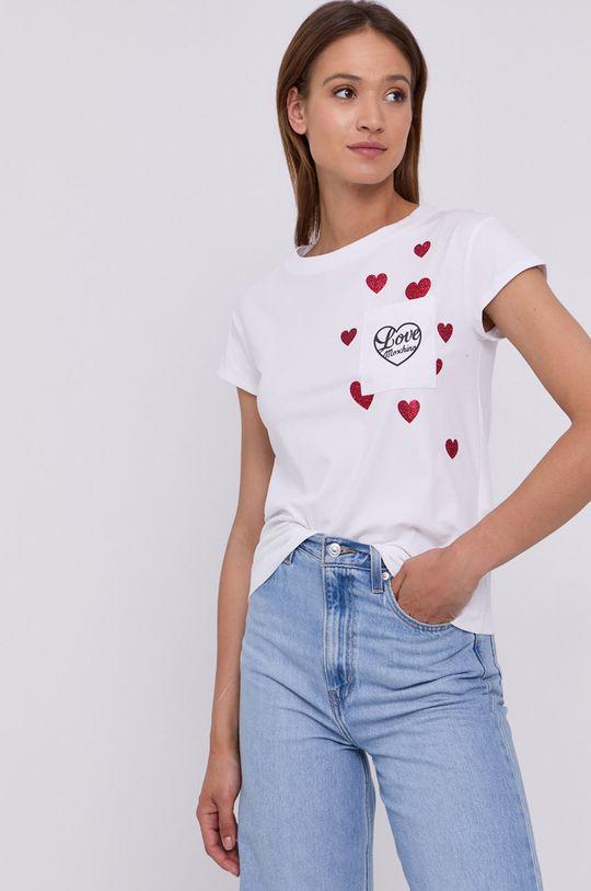 biały Love Moschino - T-shirt Damski