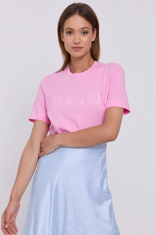 różowy Love Moschino - T-shirt Damski
