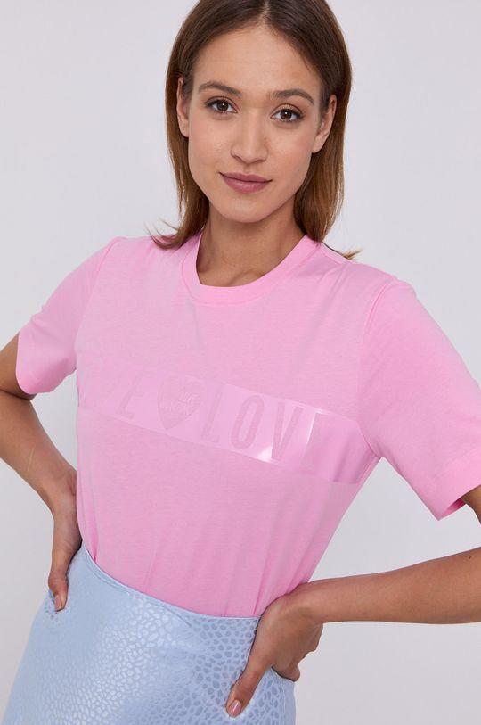 różowy Love Moschino - T-shirt