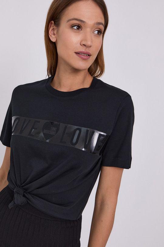 czarny Love Moschino - T-shirt