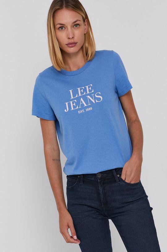 niebieski Lee - T-shirt bawełniany Damski
