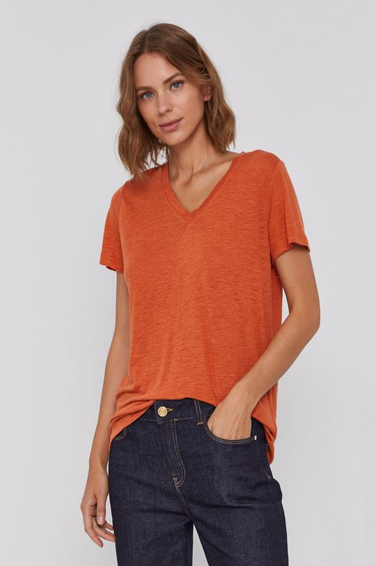 pomarańczowy Lee - T-shirt Damski