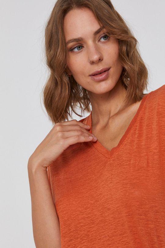 pomarańczowy Lee - T-shirt
