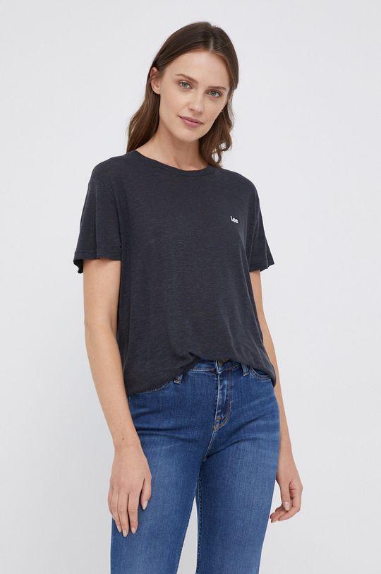 czarny Lee - T-shirt