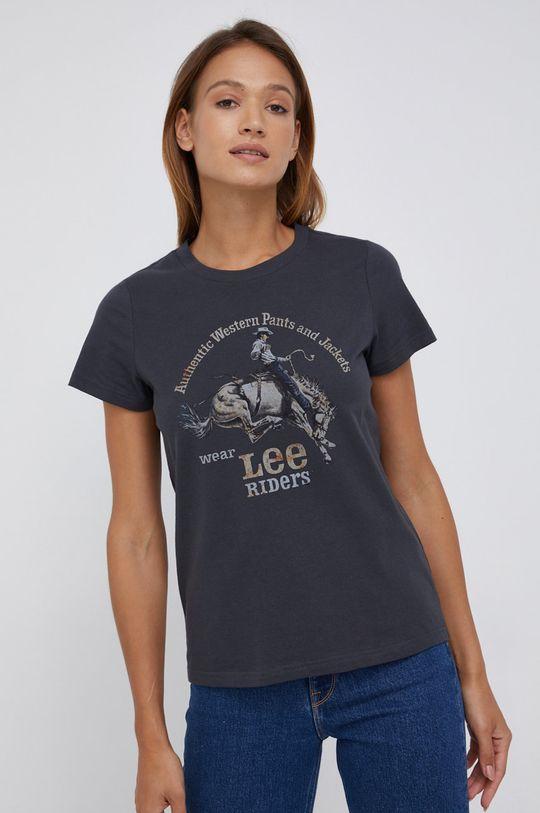 grafitowy Lee - T-shirt bawełniany Damski