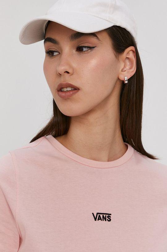 różowy Vans - T-shirt