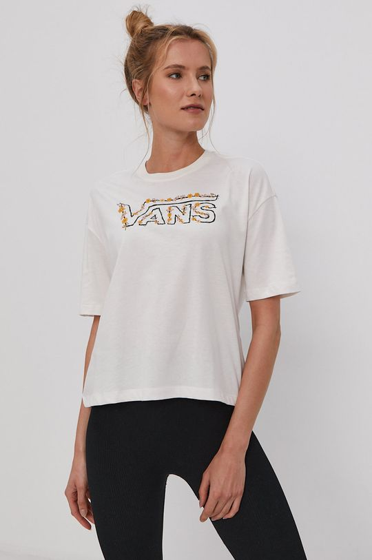 biały Vans - T-shirt Damski