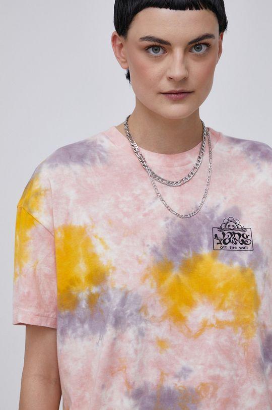 multicolor Vans - T-shirt bawełniany