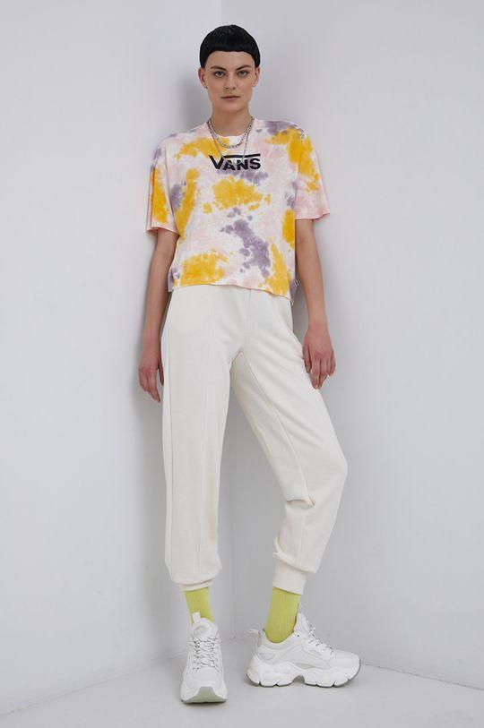 Vans - Bavlněné tričko vícebarevná