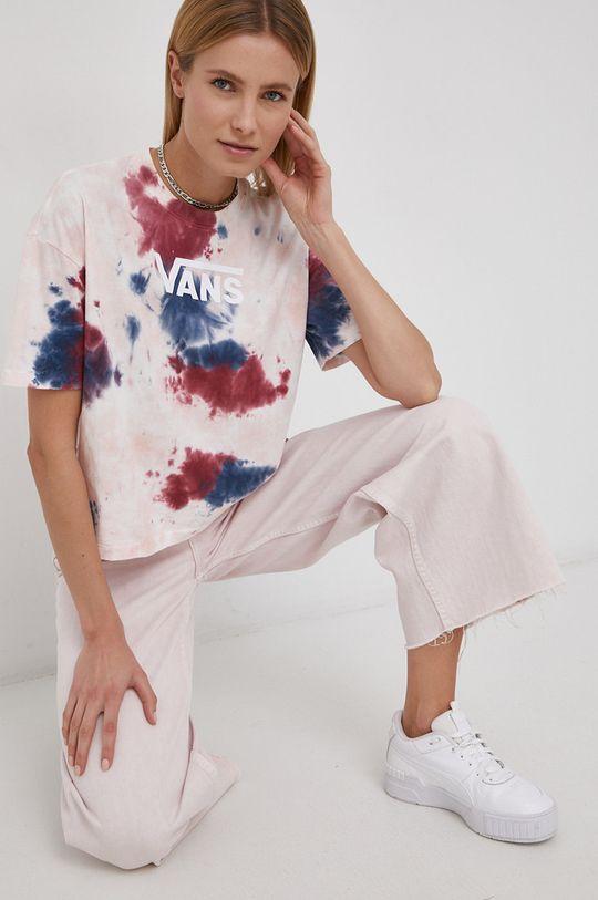 różowy Vans - T-shirt bawełniany Damski