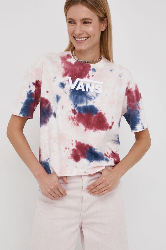 różowy Vans - T-shirt bawełniany