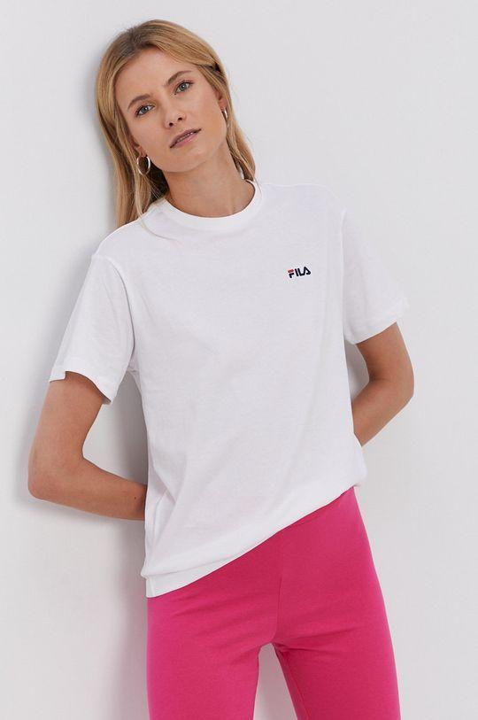 bílá Fila - Bavlněné tričko Dámský