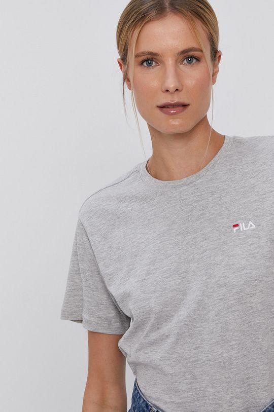 světle šedá Fila - Bavlněné tričko