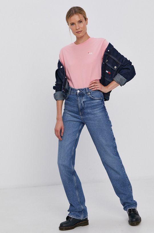 różowy Fila - T-shirt bawełniany Damski